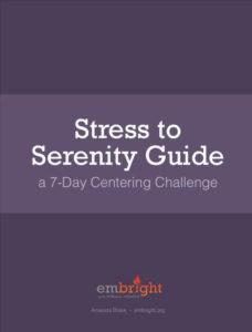 stress to serenity amanda blake